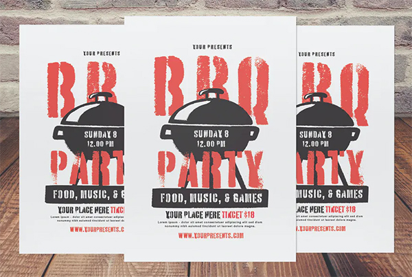 Awesome BBQ Party Flyer