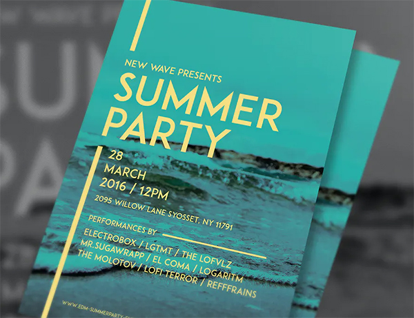 Simple Summer Party Flyer