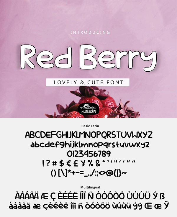 Red Berry Font