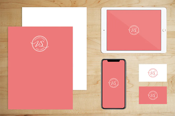 Stationery Brand Paper and Tech Mock Up