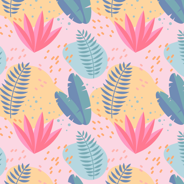 Draw a Tropical Summer Seamless Pattern in Adobe Illustrator