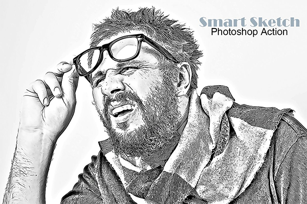 Smart Sketch Photoshop Action