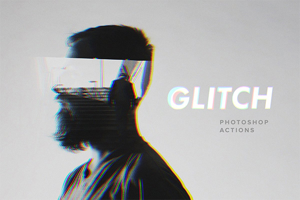 Glitch Photoshop Actions