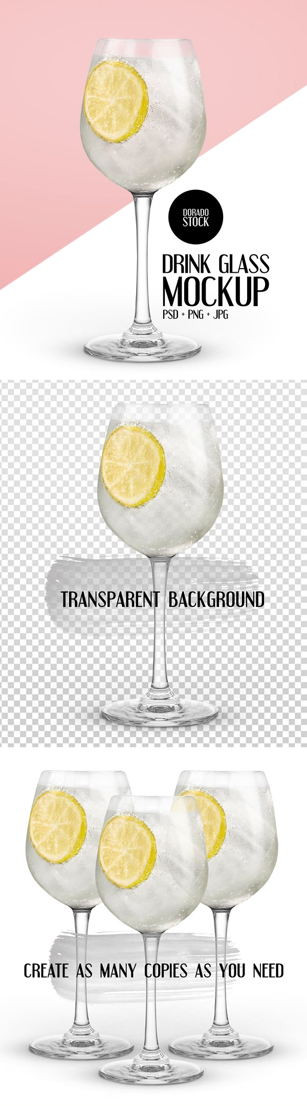 Isolated Drink Glass Mockup