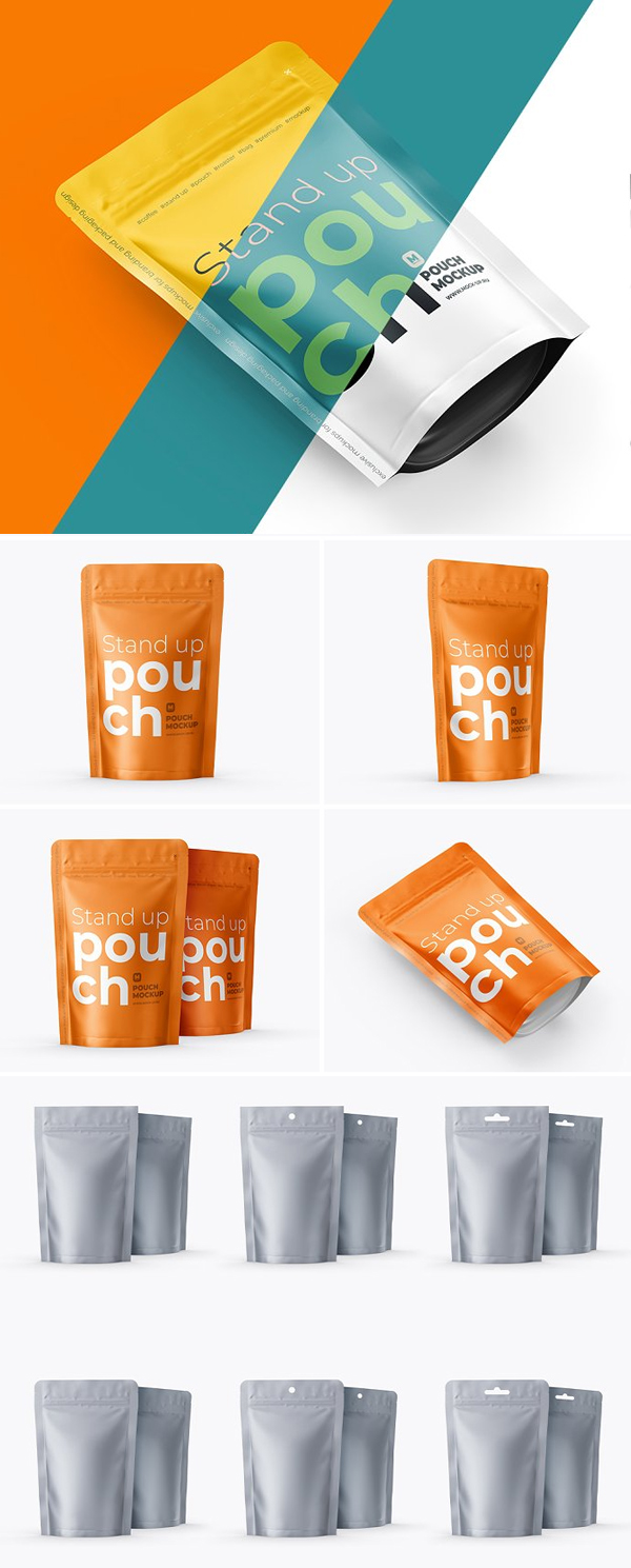 4 PSD Stand-Up Pouch Mockup