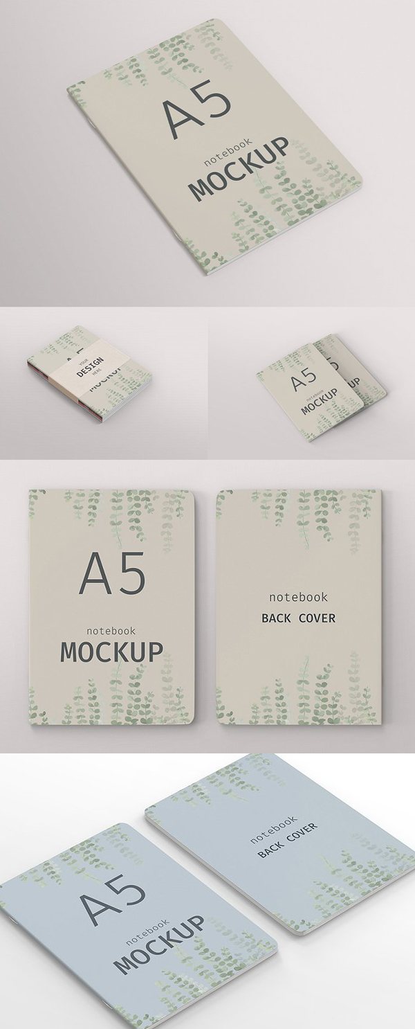 A5 Notebook Cover Mockup