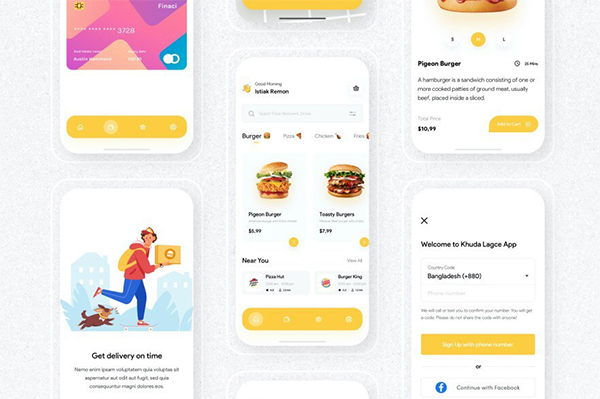 Food Delivery App UI Kit Free