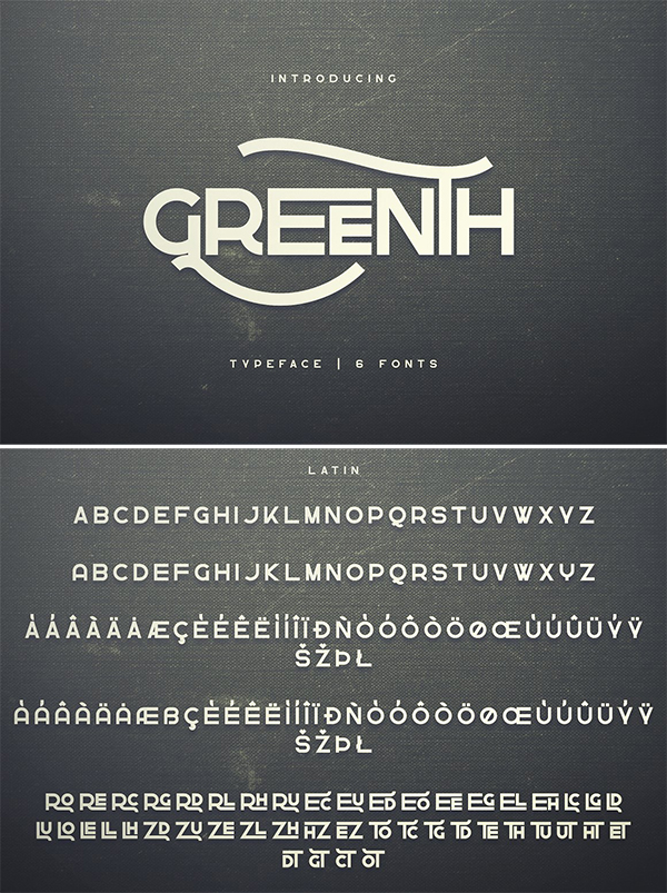 Greenth Display Font