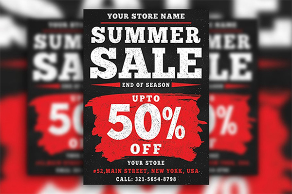 Dark Summer Sale Flyer