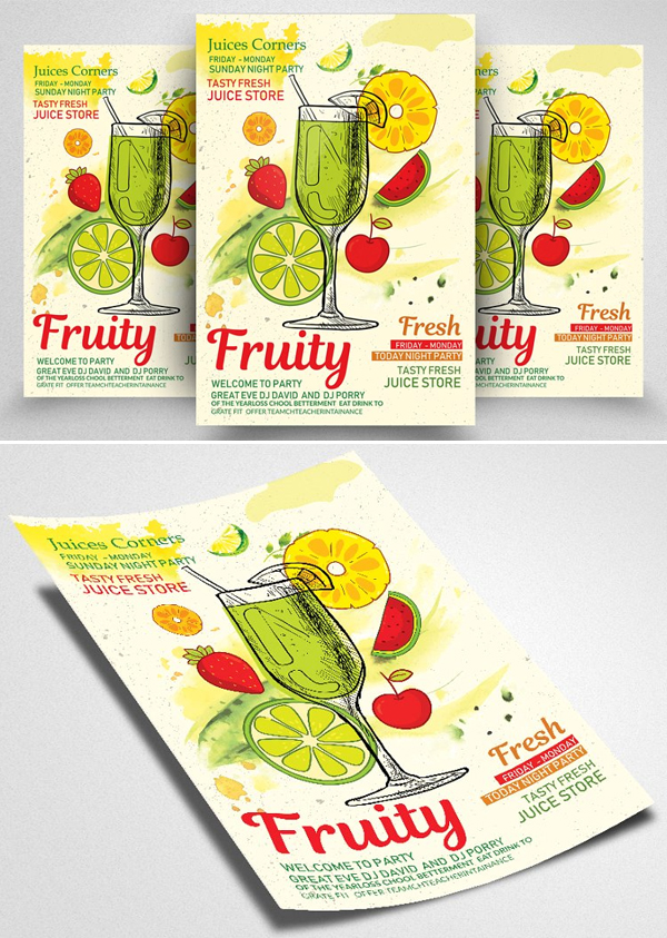 Fresh Juices Shop Flyer / Poster