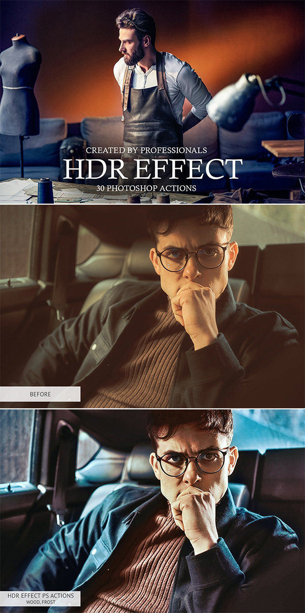 HDR Effect Photoshop Actions
