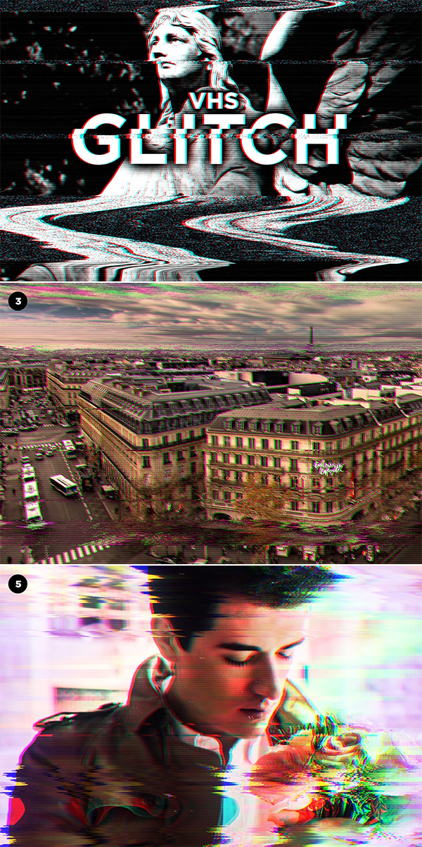 VHS Glitch Effects for Photoshop