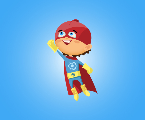 Illustrator vector tutorial Superboy character