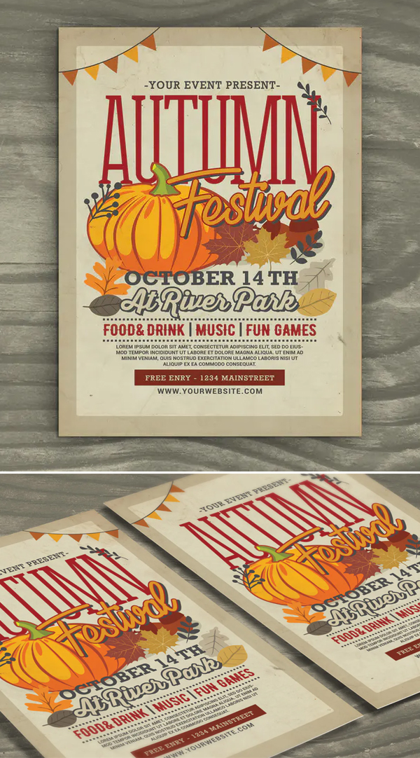Awesome Autumn Festival Flyer