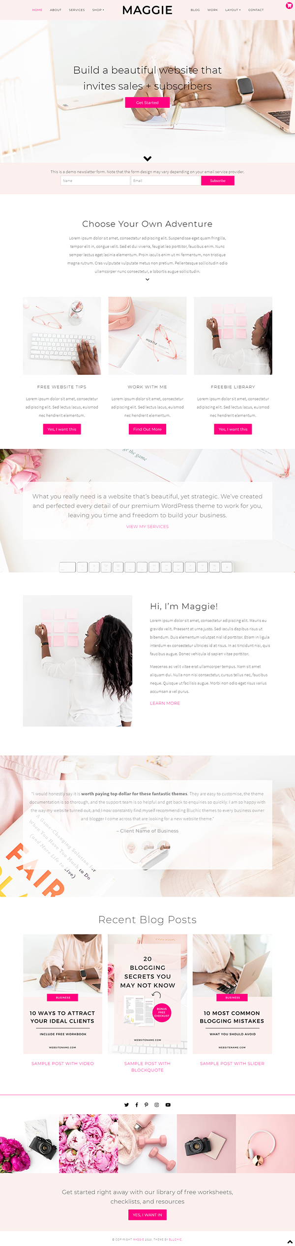 Maggie Feminine WordPress Theme