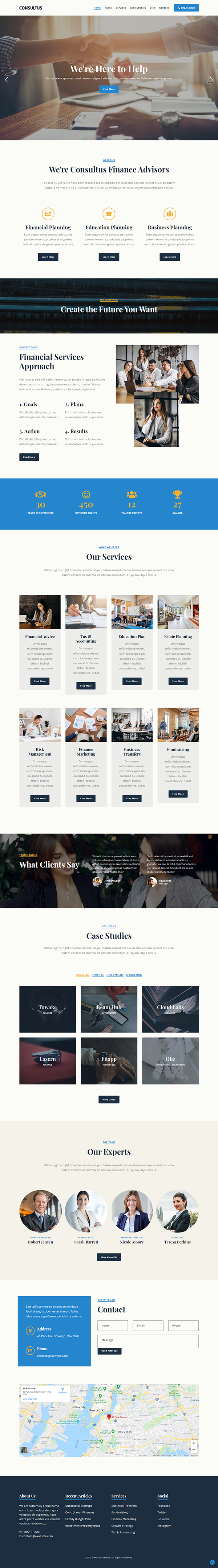 Consultus Finance Consulting Theme