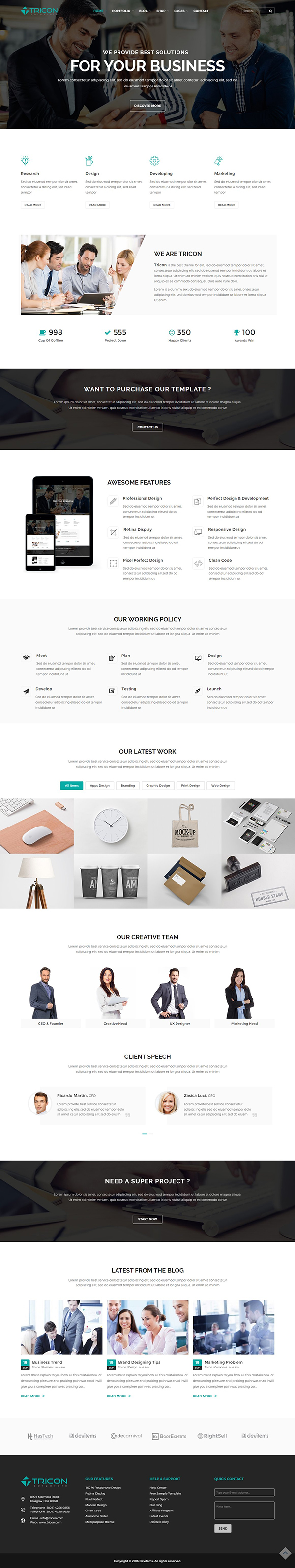 Tricon – Multipurpose WP Theme