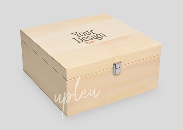 Natural Wooden Box Mock Up
