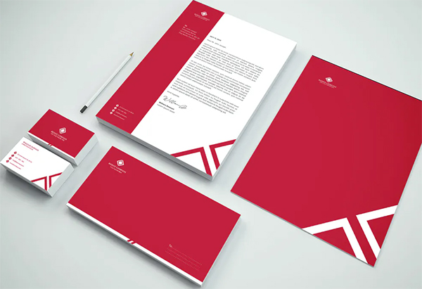 Red Business Branding Identity