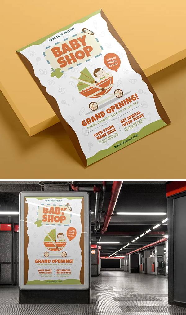 Baby Shop - Flyer Template