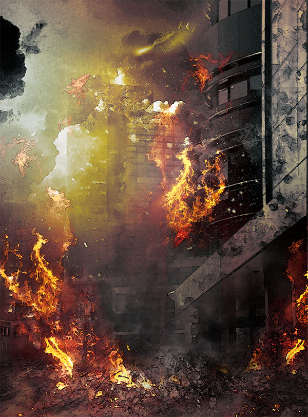 Create High-Rise Building on Fire Effect in Photoshop