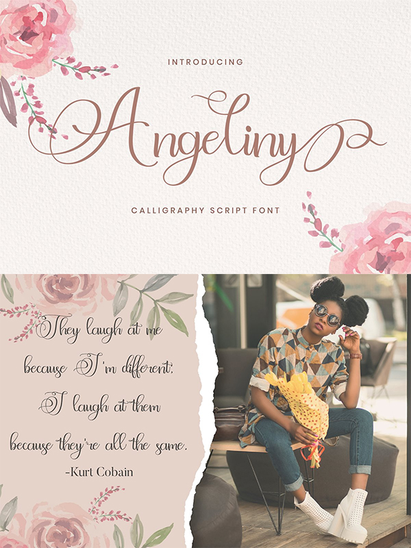 Angeliny - Calligraphy Font