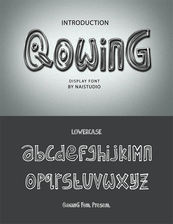 Qowing - Cute Display Font