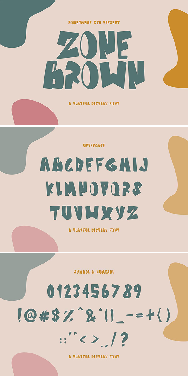 Zone Brown - A Playful Display Font