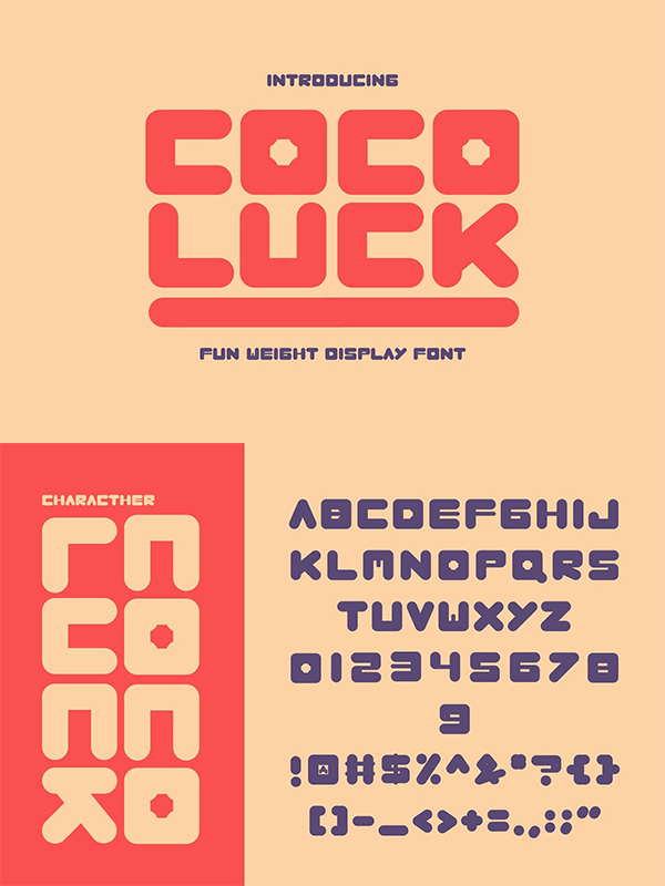 Cocoluck - Fun Weight Display Font