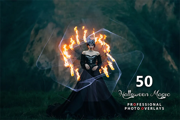 Halloween Magic Photo Overlays