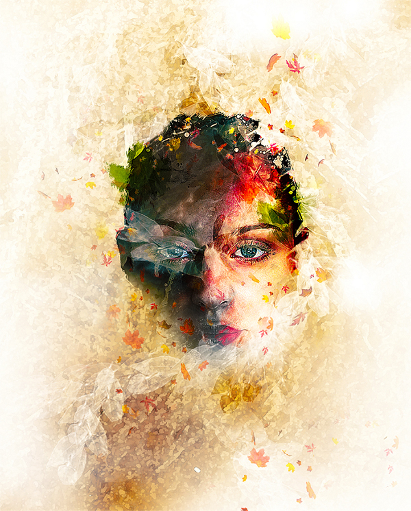 Create Leafy Face Photo Manipulation in Photoshop
