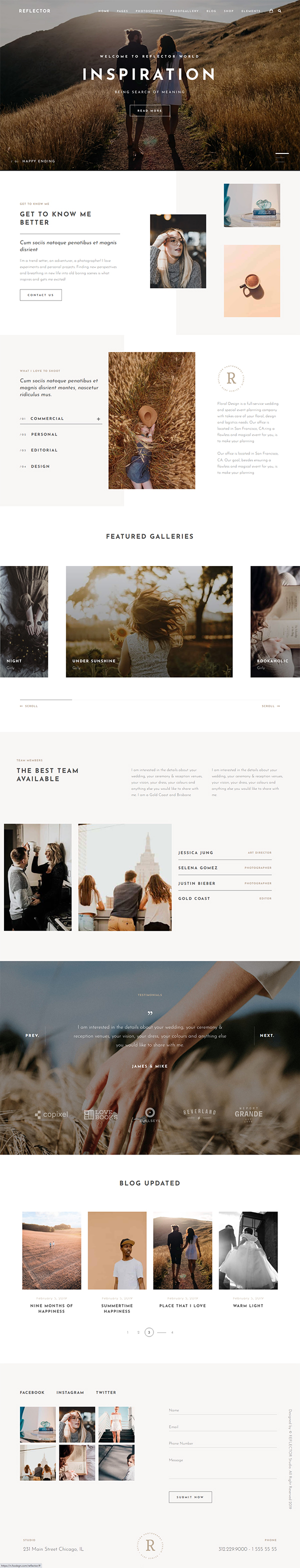 Reflector Photography Theme