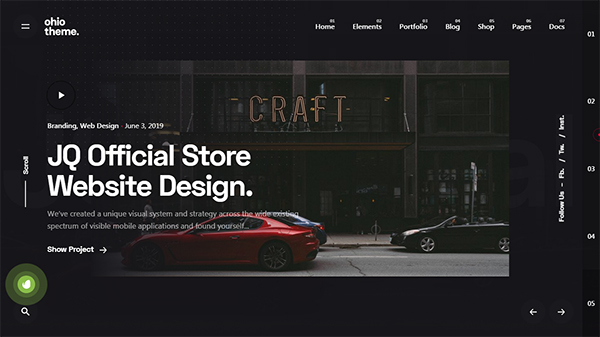 Ohio - Creative Portfolio & Agency WordPress Theme