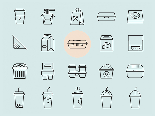 20 Takeaway Vector Icons