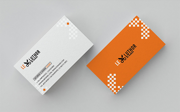 Creative Barber Business Card Freebie PSD