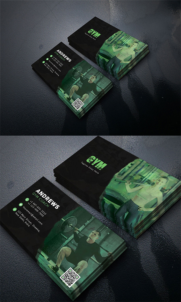 The Gym Business Card Freebie PSD