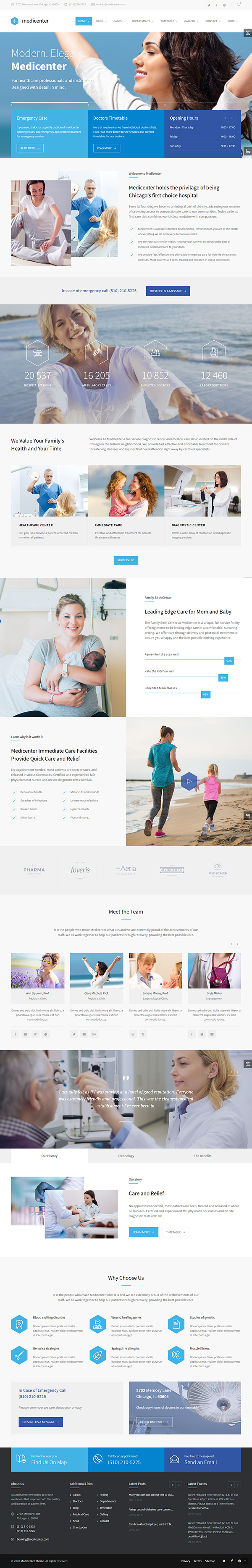 MediCenter - Health Medical Clinic WordPress Theme