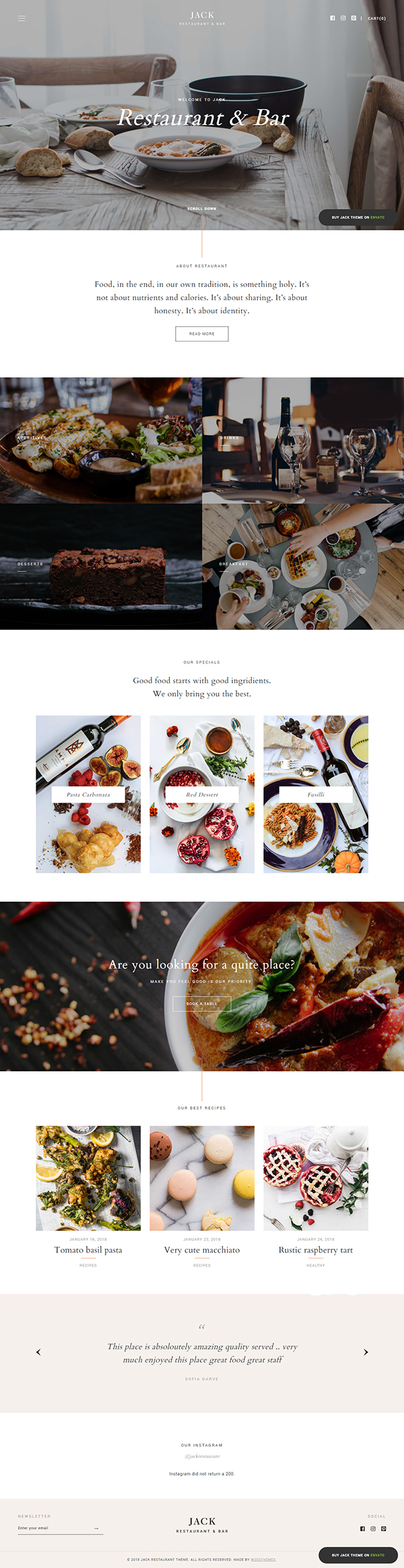 Jack - Restaurant WordPress Theme