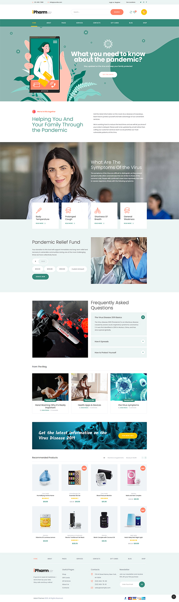 IPharm - Online Pharmacy & Medical WordPress Theme