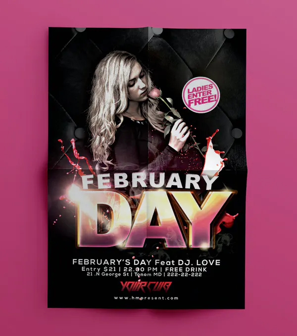 February Flyer Template