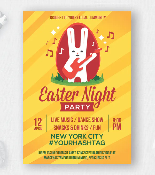 Awesome Easter flyer Template