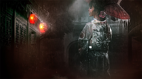 How to Create Rainy Night Scene in Photoshop