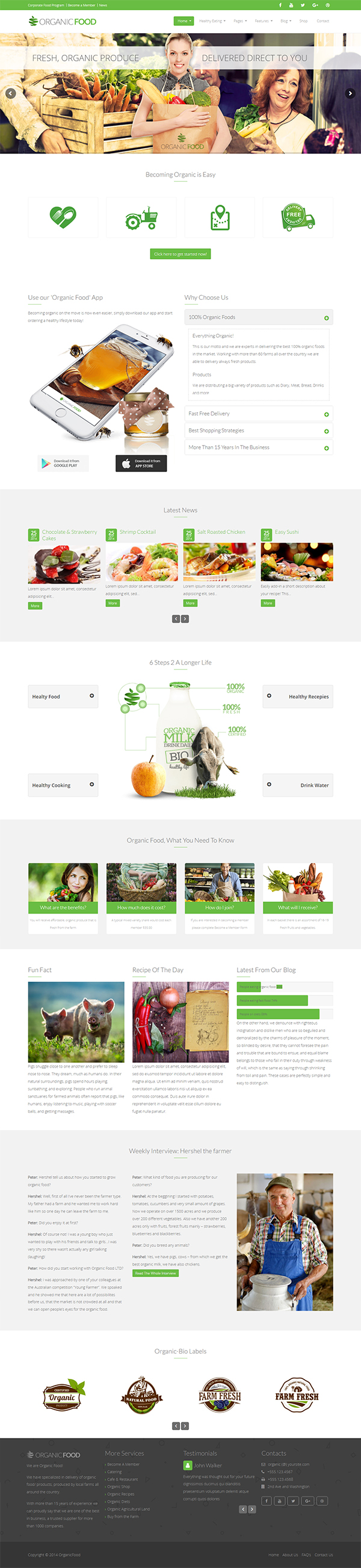 OrganicFood | Responsive WordPress Theme