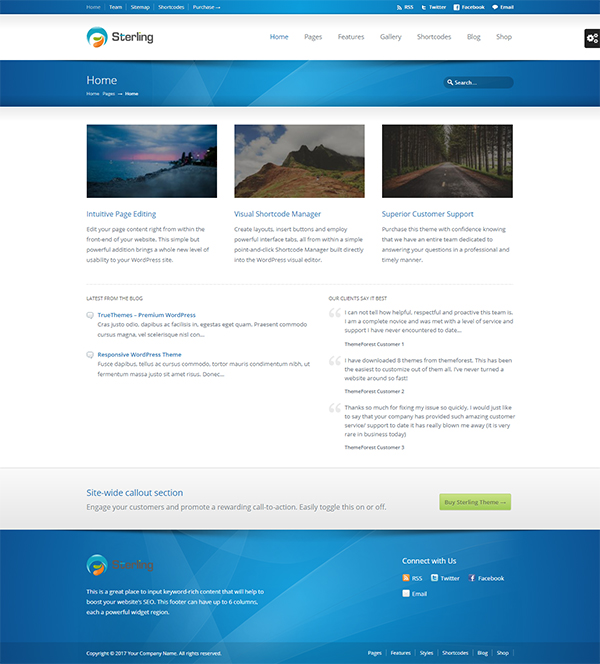 Sterling - Responsive WordPress