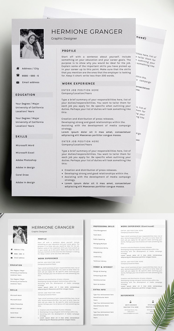 Professional Clear Resume Template