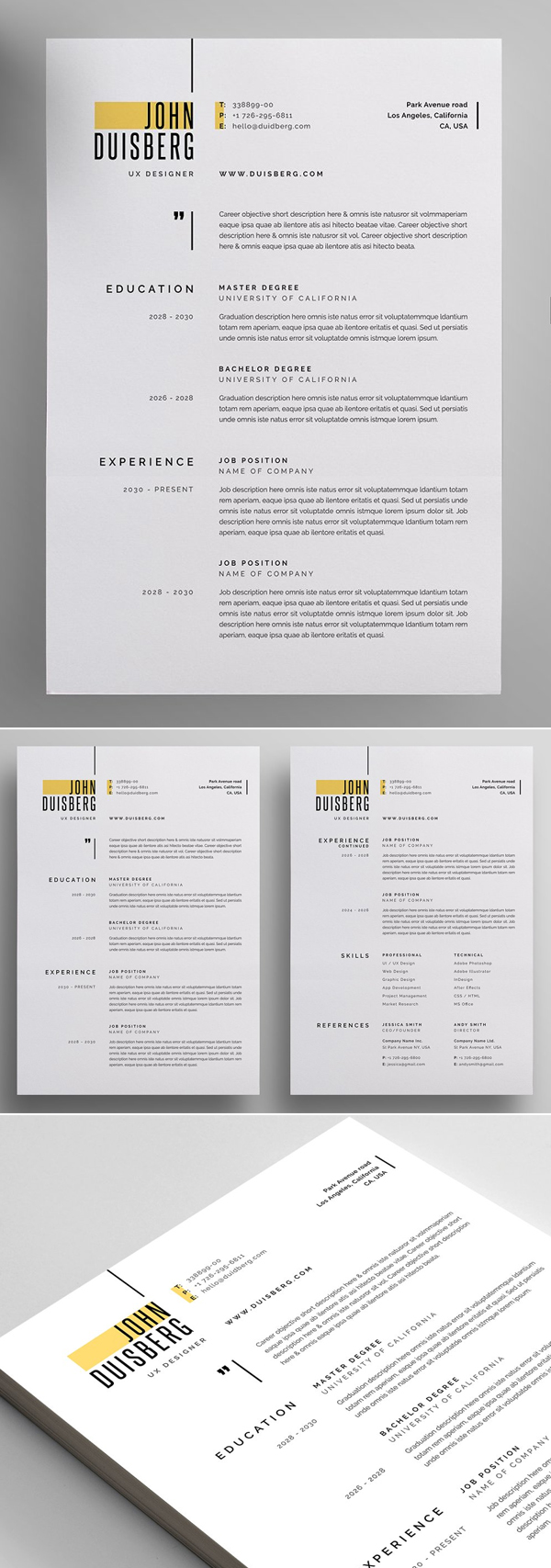 Simple Resume / CV Design