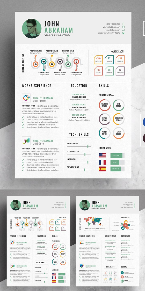 Info-graphic Resume / CV