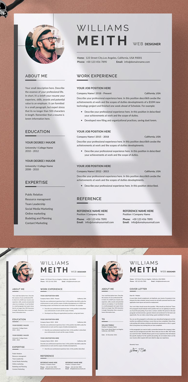 Creative Resume / CV Word