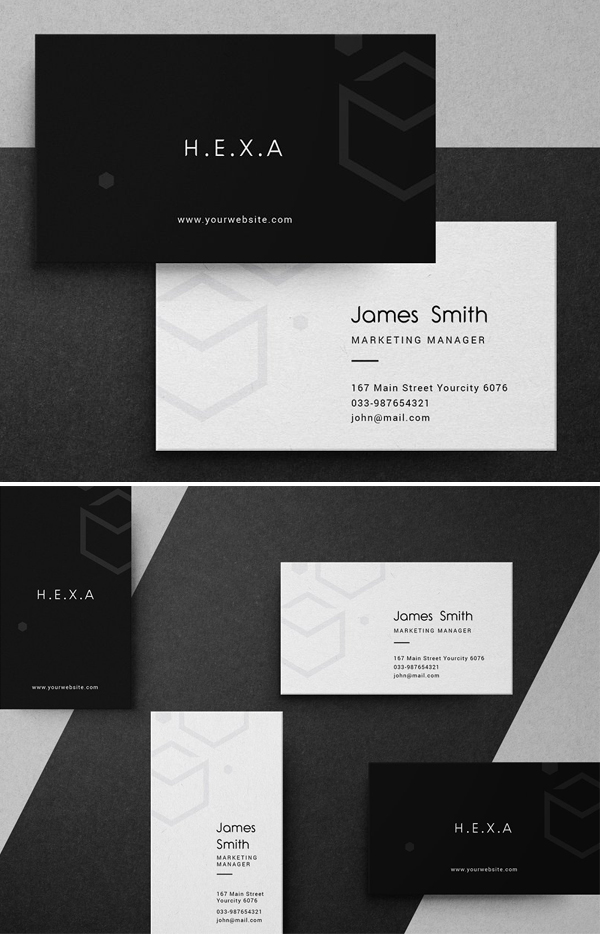 Hexa Business Card Template