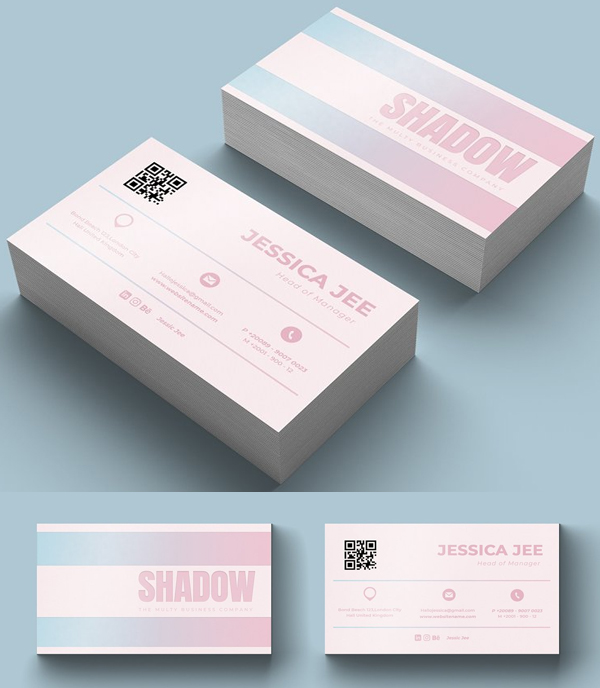 Shadow Business Card Template